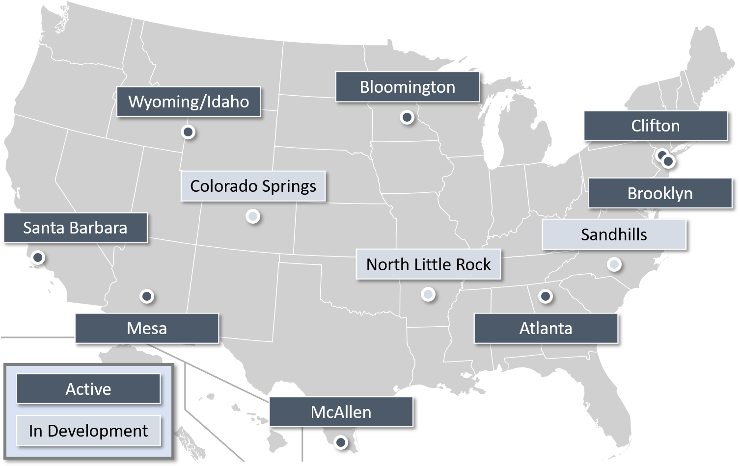Map of Immigrant Hope locations